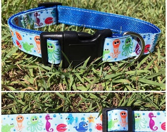 Handmade Dog Collar ' Under the Sea'