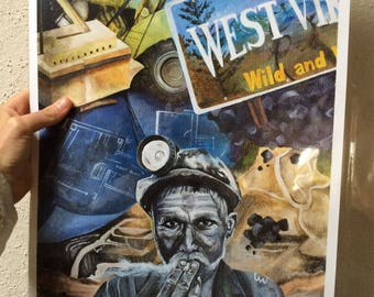 West Virginia, Wild and Wonderful - painting print