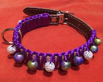 Dog Collar,Crafted dog collar,Beaded dog collar,Handmade dog collar