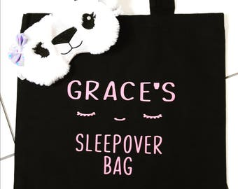 Personalised Sleepover Bag, Personalised overnight bag, Girls Bag, shopping Bag, Overnight Bag, Gift under 10, Gift for a girl, BFF,