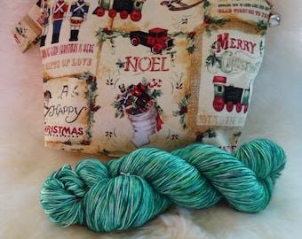 Winter Project Bag & Yarn Kit // Toyland
