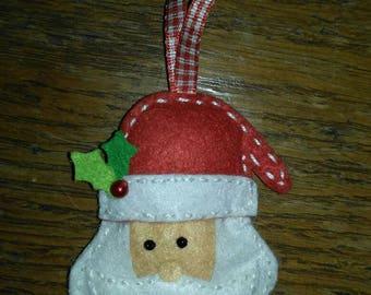 Felt christmas santa Claus ornament