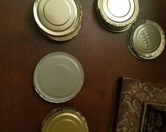 Lot of 50 tin can lids for crafting