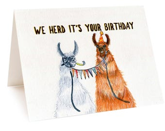 Alpaca Card, Alpaca Birthday Card, Llama Card, Funny Llama Birthday Card, Funny Alpaca Birthday Party Card