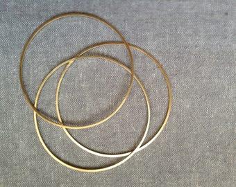Set of 3 Brass Bangles