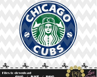 Chicago Cubs coffee svg,png,dxf,shirt,jersey,baseball,college,university,decal,proud mom,disney,softball,college,new york,starbucks,ncaa,svg