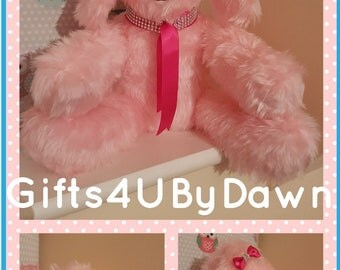 Pink Dog, Teddy, Pink Teddy, Decorational Dog, Decorational Teddy, Display Bling Dog