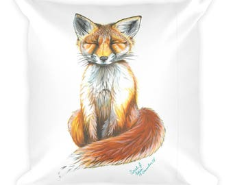 Baby Fox Square Pillow