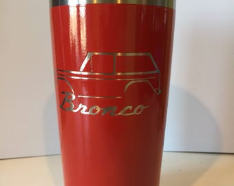 Early Bronco Full Cage 20oz Tumbler stainless steel powder coat