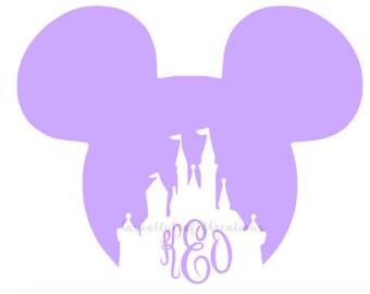 Disney Castle Monogram