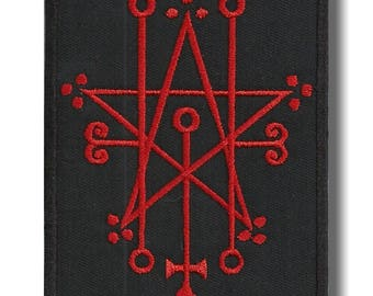 Sigil of Astaroth - embroidered patch, 8x10 cm