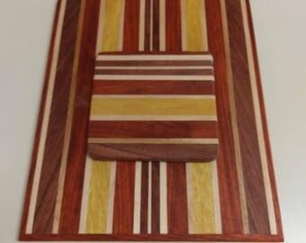 2 piece hardwood cutting board set