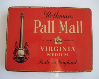 50 tin Pall Mall cigarettes by Rothman's