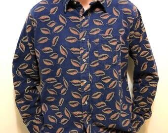 Vintage Pattern Flannel Button Down