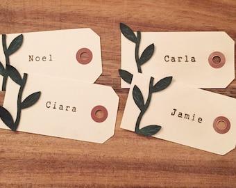 Handmade Wedding Placecards