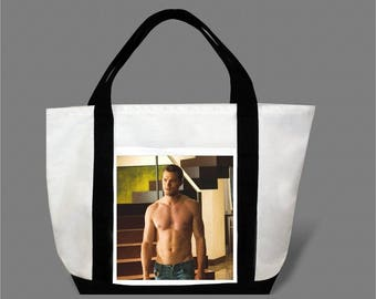 Dakota Johnson Jamie Dornan Canvas Tote Bag #0005
