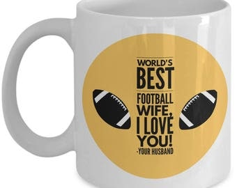 WORLD'S BEST Football Wife! Coffee Mug