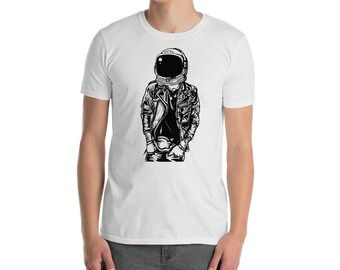 Punk Astronaut funny Short-Sleeve Unisex T-Shirt