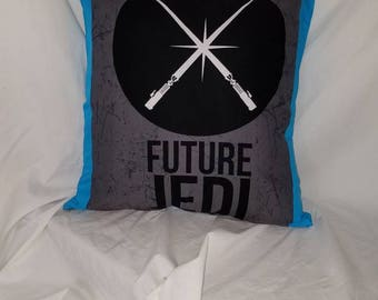 Star Wars Blue Lightsaber Accent Pillow Cover, Sci fi throw Pillow, Blue Jedi Decorative Pillow, Man Cave Pillow, Geek Gift, Nerd gift