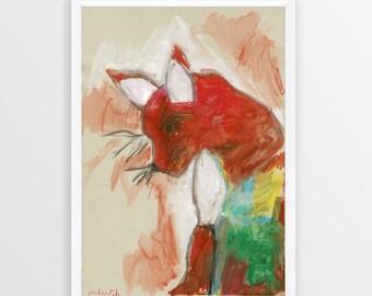 Little Fox A3 Art Print
