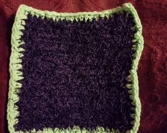 handmade washcloth/scrubby combo