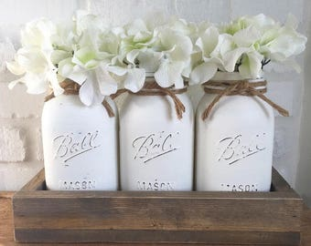 Spring Farmhouse Mason Jar Decor Set