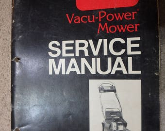 1990 Vacu-power mower service manual