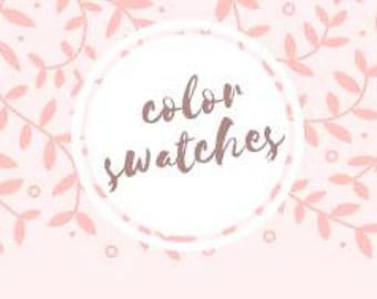 Color Swatches champagne and blush
