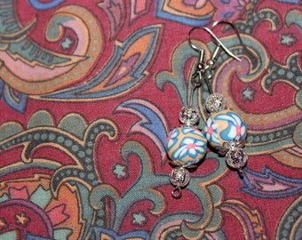 gorgeous psychedelic floral earrings