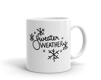 Sweater weather Mug | Winter mug | Christmas gift | Cold weather | Cozy sweater