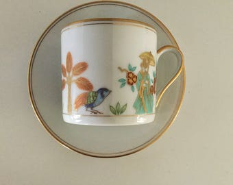 """Fitz and Floyd Tea Cup With  Saucer ~"""" Promanade"""""""