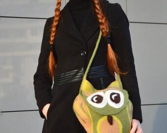 """Bag women's handmade """"Owl"""""""