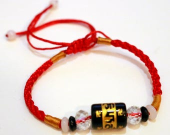 Buddha Bracelet Red String of Fate