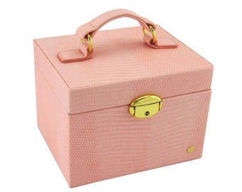 Jewellery Box Small- Pink Lizard