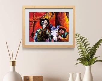 Don Quijote IV by Obed Art print - Don Quixote Art- Man of La Mancha