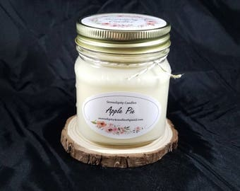 Apple Pie Soy Candle Serendipity Candles Hand Poured 8 oz.