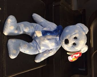Rare Ty Original Beanie Baby 1999 HOLIDAY TEDDY With Errors