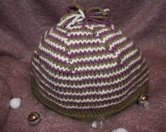 The Bobble. Hand-knitted Wool Hat