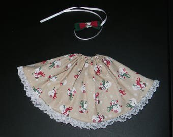 Snowman BJD Skirt