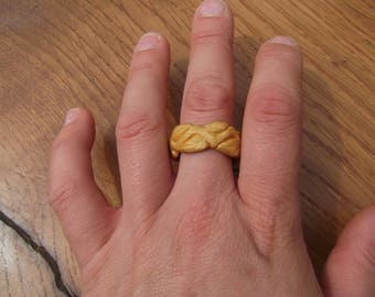 Boxwood Eternal-Leaves Ring