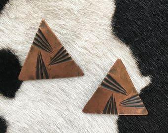 Vintage Copper Earrings