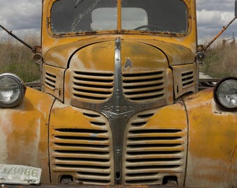 Metal print of an old Dodge truck