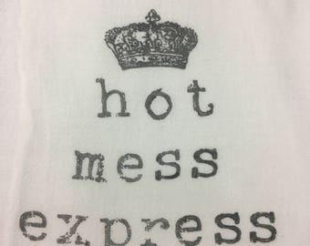 hot mess express hand towel