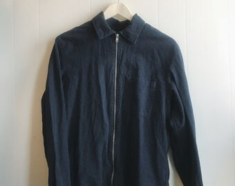 Collared Shirt with Zipper