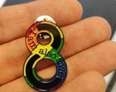 Sense8 Rainbow Lapel Pin - Enamel - I am also a we ~Nomi - HatPin -