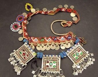 Afghan Tribal BELT Bellydance Dangles Turkoman 868j5