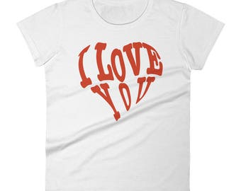 Valentines Day Gift Idea Women's short sleeve t-shirt