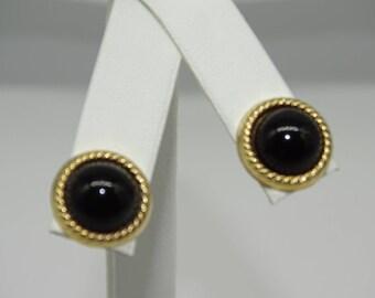 14K Onyx Earring