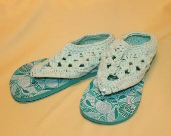 Crochet Gladiator Flip Flops / Sandals