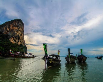 Krabi beach, Thailand travel photograph art print